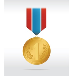 medal gold vector image