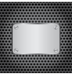 metal label grid background vector image
