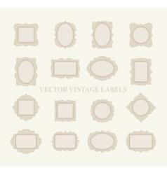 Pastel Frame Set vector image