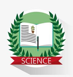 science biology book learn school vector image