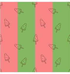 Seamless pattern watermelon ice cream vector image vector image