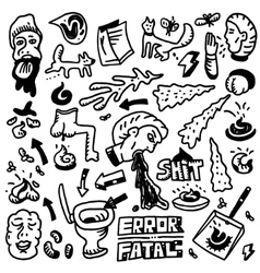 Shit doodles vector image vector image