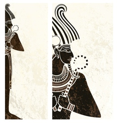 template banner with ancient egypt symbol vector image