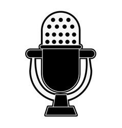 vintage microphone symbol vector image vector image