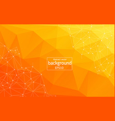 Abstract bright orange technology background vector