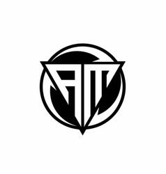 Am logo monogram design template vector