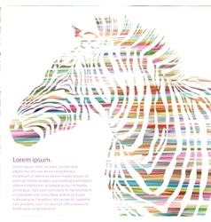 Animal of watercolor zebra silhouette vector image