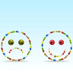 anti depressants vector image
