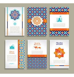 Banners set of ethnic design Religion abstract set vector image