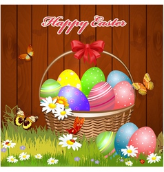 basket easter4 vector image