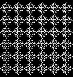 beautiful star flower fabric wallpaper pattern vector image