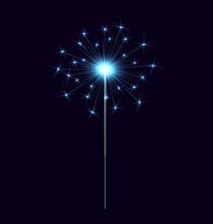 bengal sparkler blue vector image