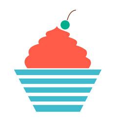 Birthday cake dessert icon vector