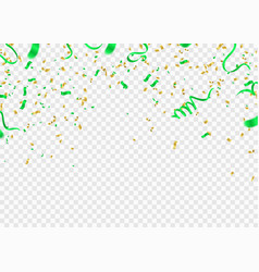 Birthday card with green happy birthday vector