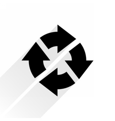 Black arrow icon repeat sign on white background vector image