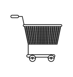Black silhouette of shopping cart vector