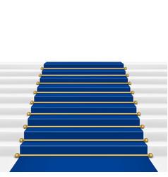 Blue carpet vector