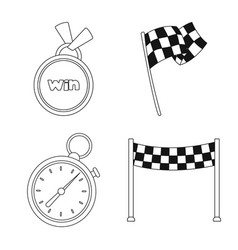 car and rally sign vector image