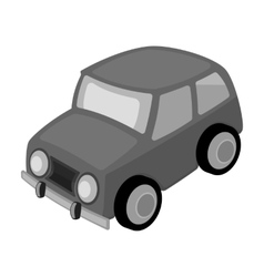 Car icon in monochrome style isolated on white vector