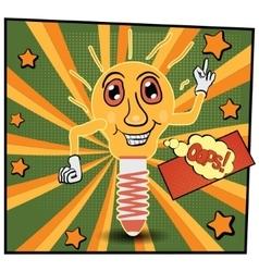 cartoon lamp vector image