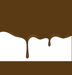 chocolate flow wave on white background vector image