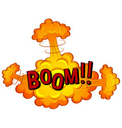 Cloud exploded with word boom vector