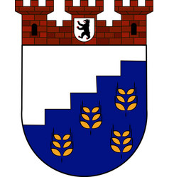 coat of arms of hohenschoenhausen in berlin vector image