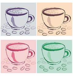 coffee 116 a vector image