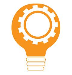 Conceptual idea lightbulb with a gear piece vector