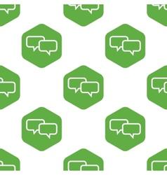 Conversation pattern vector image