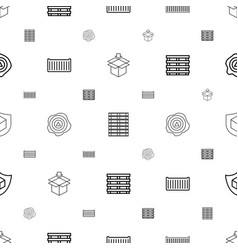 crate icons pattern seamless white background vector image