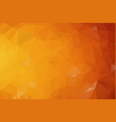 dark orange polygonal which consist of triangles vector image
