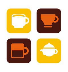 delicious coffee drink fresh icon vector image