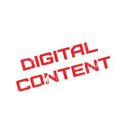 Digital content rubber stamp vector