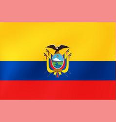 Ecuador flag national ecuadorian symbol for of vector