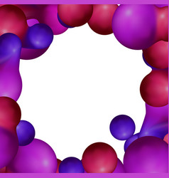 frame with futuristic balls vector image