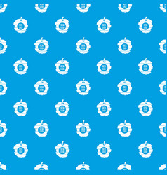 fresh food pattern seamless blue vector image