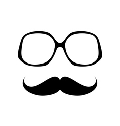 Glasses with mustache vector