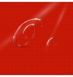 Glassy Italic Letters vector