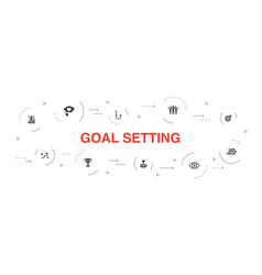 Goal setting infographic 10 steps circle design vector