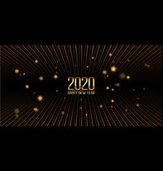 Golden happy new year banner design vector