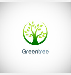 green tree nature logo vector image