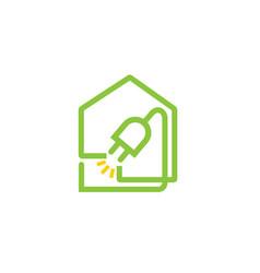 house plug logo vector image