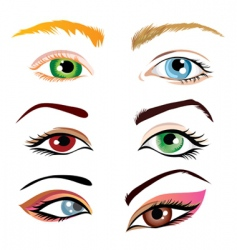 human eyes vector image