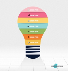 Infographic design template Light bulb with vector image
