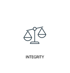 Integrity concept line icon simple element vector