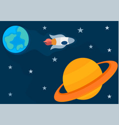 Journey from outher space vector