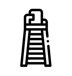 judge tower chair icon outline vector image