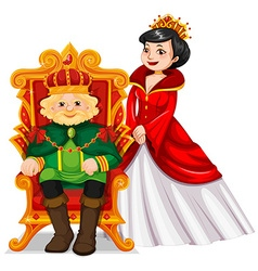King and queen at the throne vector image