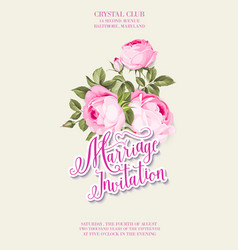 marriage invitation on ivory background vintage vector image